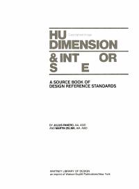 Human Dimension   Interior Space