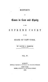 Reports of Cases in Law and Equity Determined in the Supreme Court of the State of New York: Volume 4