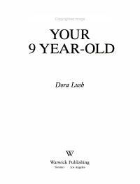 Understanding Your 9 Year Old PDF