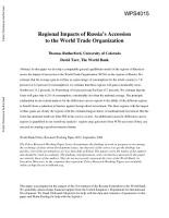 Regional Impacts of Russia s Accession to the World Trade Organization PDF