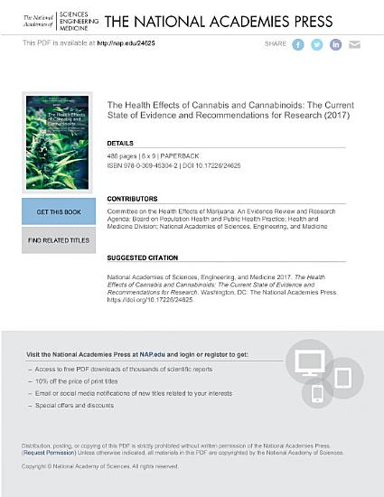 The Health Effects of Cannabis and Cannabinoids PDF