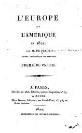 L'Europe et l'Amérique en 1821...