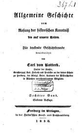 Allgemeine Geschichte vom Anfang der historischen Kenntniss bis auf unsere Zeiten: Band 6