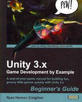 Unity 3 x Game Development by Example PDF