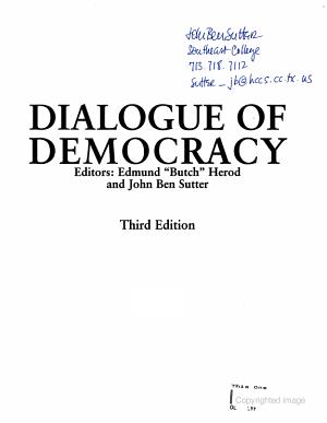 Dialogue of Democracy
