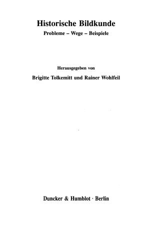 Historische Bildkunde PDF