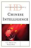 Historical Dictionary of Chinese Intelligence PDF