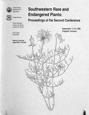 Southwestern Rare and Endangered Plants