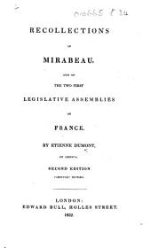 Recollections of Mirabeau ... Second edition, carefully revised. [With facsimile letters of Mirabeau.]