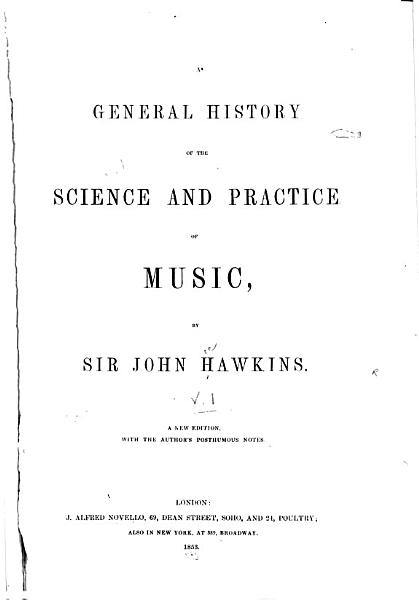 A General History of the Science and Practice of Music PDF