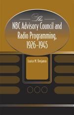 The NBC Advisory Council and Radio Programming, 1926-1945