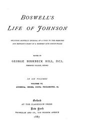 Boswell's Life of Johnson: Addenda, index, dicta philosophi, &c