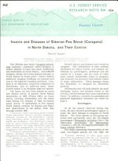Insects and Diseases of Siberian Pea Shrub (Caragana) in North Dakota, and Their Control