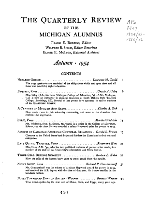 Michigan Alumnus Quarterly Review PDF
