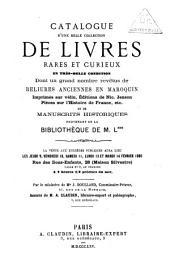 Veilingcatalogus, boeken L***, 9-14 februari 1865