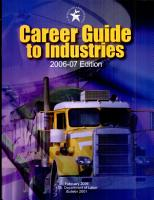 Career Guide to Industries  2006 07 PDF
