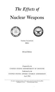 The Effects of Nuclear Weapons Book