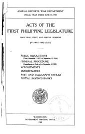 Acts of ... Philippine Legislature ...: Public Resolutions, Etc. from ..., Issue 1801, Part 2187