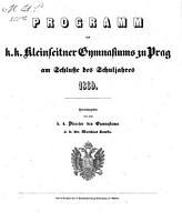 Programm des K  K  Kleinseitner Gymnasiums zu Prag PDF