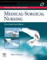 Elsevier s Clinical Skills Manual  Medical Surgical Nursing  1sae  E Book PDF