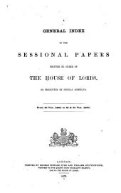 House of Lords Papers and Bills