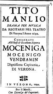 Tito Manlió: Drama per Musica