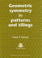 Geometric Symmetry in Patterns and Tilings PDF