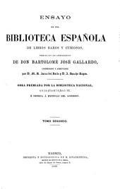 Ensayo de una biblioteca española de libros raros y curiosos: Volumen 2