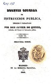 Boletín oficial de instrucción pública: Volumen 7
