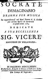 Socrate immaginario: Dramma per musica