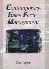 Contemporary Sales Force Management
