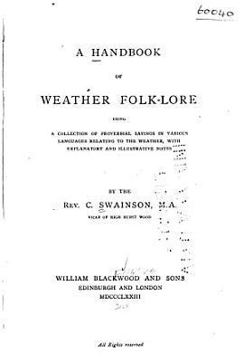 A Handbook of Weather Folk lore