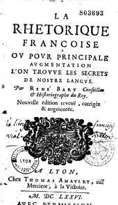 La Rhétorique françoise, où pour principale augmentation l'on trouve les secrets de nostre langue: Page1
