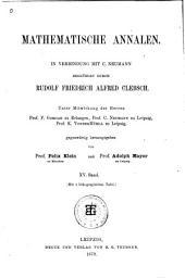 Mathematische Annalen: Volume 15