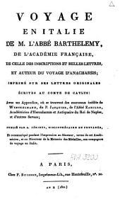 Voyage en Italie de M. l'abbé Barthelemy