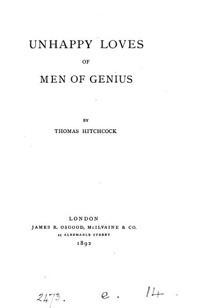 Download Unhappy Loves of Men of Genius Book