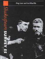 Shakespeare Survey  Volume 55  King Lear and Its Afterlife PDF