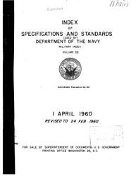 Index of Specifications and Standards Used by Department of the Navy PDF