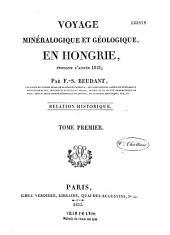 Voyage minéralogique et géologique, en Hongrie: pendant l'année 1818, Volume3