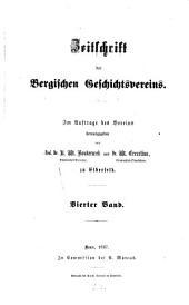 Zeitschrift des Bergischen Geschichtsvereins: ZBGV, Band 4