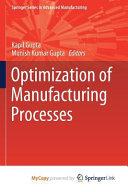 Optimization of Manufacturing Processes PDF