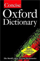 The Concise Oxford Dictionary PDF