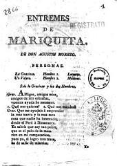 Entremes de Mariquita. De don Agustin Moreto