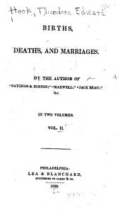 Births, Deaths, and Marriages: Volume 2
