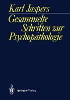 Gesammelte Schriften zur Psychopathologie PDF