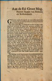 Requeste de gezamentlyke brouwers binnen Hollandt en Westvrieslandt omme declaratoir: Volume 1
