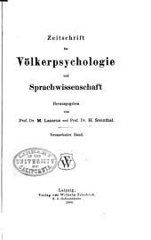 Zeitschrift für Völkerpsychologie und Sprachwissenschaft: Band 19