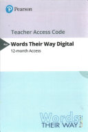 Words Their Way Digital -- Standalone Access Card -- for Words Their Way
