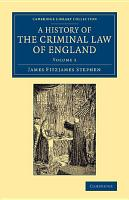 A History of the Criminal Law of England PDF