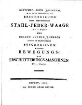 Beschreibung einer gemeinnützigen Stahl-Feder-Waage